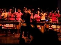 Mass marimba band Baxter concert